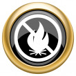 Fire forbidden icon — Stock Photo #34728597