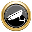 Surveillance camera icon — Stock Photo