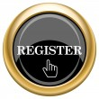 Register icon — Stock Photo #34729007