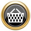 Shopping basket icon — ストック写真