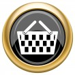 Shopping basket icon — Stockfoto