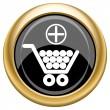 Add to shopping cart icon — 图库照片