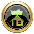 Eco house icon — Stock Photo #34729331