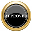 Approved icon — Stock Photo #34729485