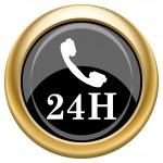 24H phone icon — Stock Photo #34729615
