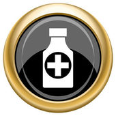 Pills bottle icon — Stock Photo