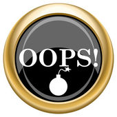 Oops icon — Foto de Stock