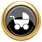Baby carriage icon — Stock Photo