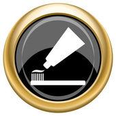 Tand klistra in och borsta ikonen — Stockfoto