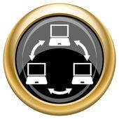 Computer network icon — Stock Photo
