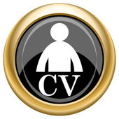 CV icon — Stock Photo