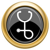 Stetoskop-ikonen — Stockfoto
