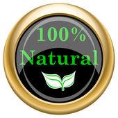 100 percent natural icon — Stock Photo