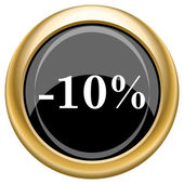 10 percent discount icon — Foto de Stock