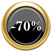 70 percent discount icon — Stockfoto