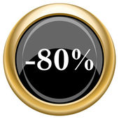 80 percent discount icon — Stockfoto