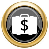 Dollar bag icon — Stock Photo