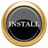 Install icon — Stock fotografie