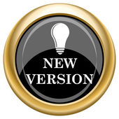 New version icon — Stock Photo