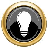Light bulb - idea icon — Stock Photo
