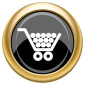 Shopping cart icon — Stock Photo