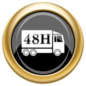 48H delivery truck icon — Stock Photo