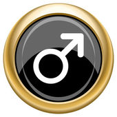 Male sign icon — Stock Photo