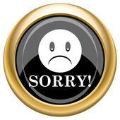 Sorry icon — Stock Photo