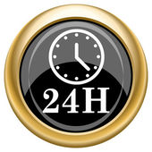 24H clock icon — Foto de Stock