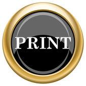 Print icon — Stock Photo