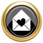 Send love icon — Stock Photo #34730071