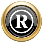 Registered mark icon — Stock Photo #34730153