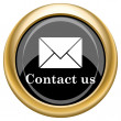 contact us icon — Stock Photo