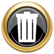 Bin icon — Stock Photo