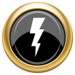 Lightning icon — Stock Photo #34730377