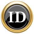 ID icon — Stock Photo