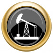 Oil pump icon — Stock Photo