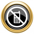 Mobile phone restricted icon — Stock Photo #34731157