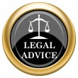 Legal advice icon — Stock Photo #34731327
