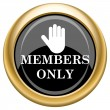 Stock Photo: Members only icon