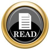 Read icon — Stock Photo