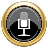 Mikrofon-ikonen — Stockfoto