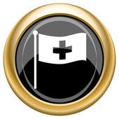 Cross flag icon — Stock Photo