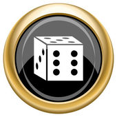 Dice icon — Foto de Stock