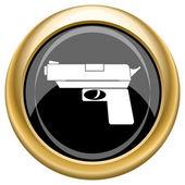 Gun icon — Stock Photo