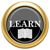Learn icon — Stock Photo
