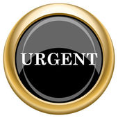 Urgent icon — Stock Photo