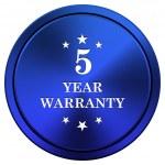 5 year warranty icon — Stock Photo #34976759