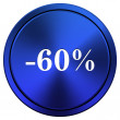 60 percent discount icon — 图库照片