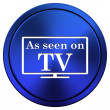 As seen on TV icon — Stock Photo #34977339